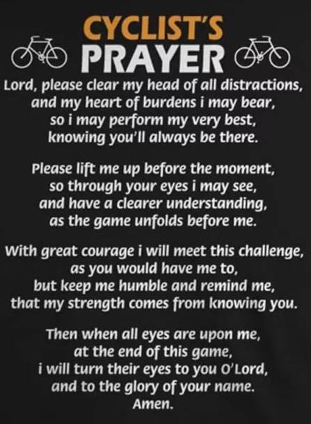 Cyclists Prayer